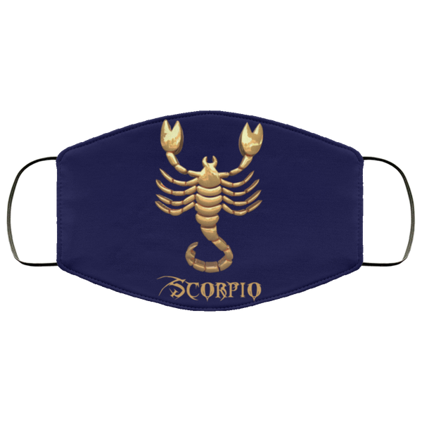 Scorpio Face Mask navy blue
