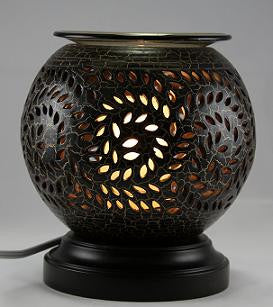 Electric Pottery Wood Oil Burner Lamp