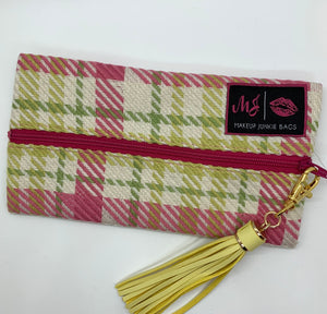 Sweet Plaid Makeup Junkie Bag