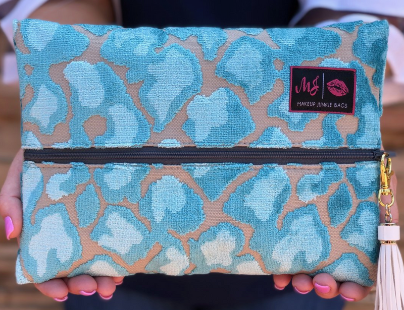 Rosette Cyan Makeup Junkie Bag
