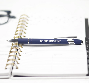 "The perfect accessory for your desk.  These hilarious pens make the perfect desk accessory and/or gift for your favorite co-worker.  Who needs boring pens?!  Or a gift for your husband, ""Don't be a Richard"" pen!   So, go ahead and enjoy writing again.  Enjoy making that grocery list with these sarcastic pens.  Available in several hilarious sayings, black or blue ink.  But who really cares about the color of the ink, right!!!"