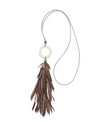 Tawaret Suede Feather Necklace
