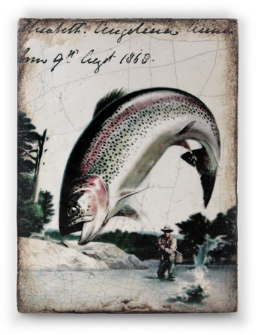 fishing tile from artist Sid Dickens