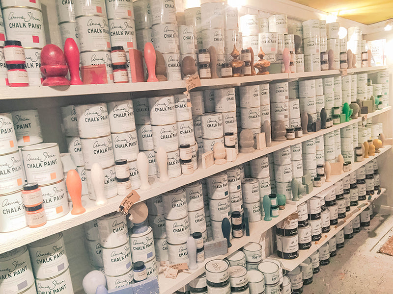 Annie Sloan shop paint cans