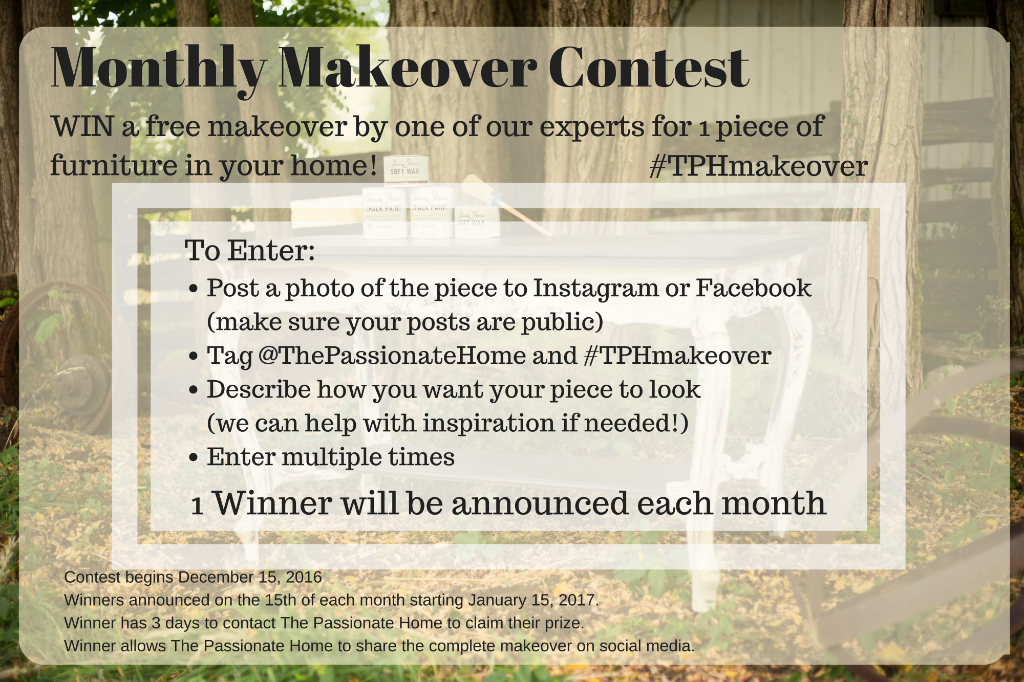 Monthly Makeover Contest #TPHmakeover - The Passionate Home