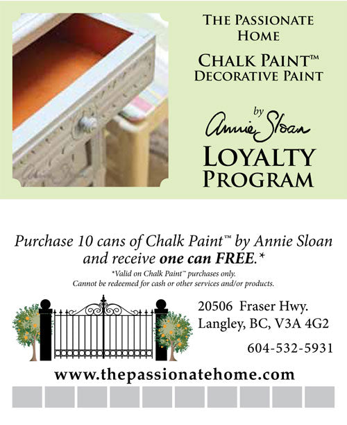 chalk paint loyalty card