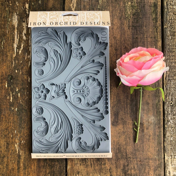 IOD Acanthus Scroll Decor Mould by Iron Orchid Designs
