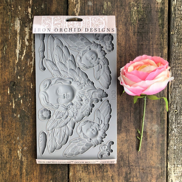IOD Cherubs Decor Mould by Iron Orchid Designs