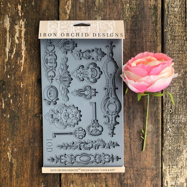 IOD Lock & Key Decor Mould by Iron Orchid Designs