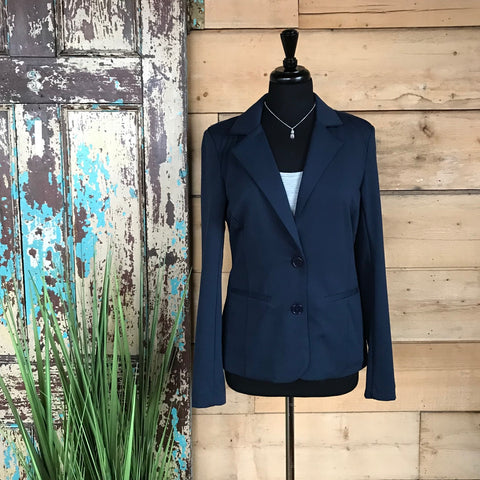 Anett Blazer in Navy