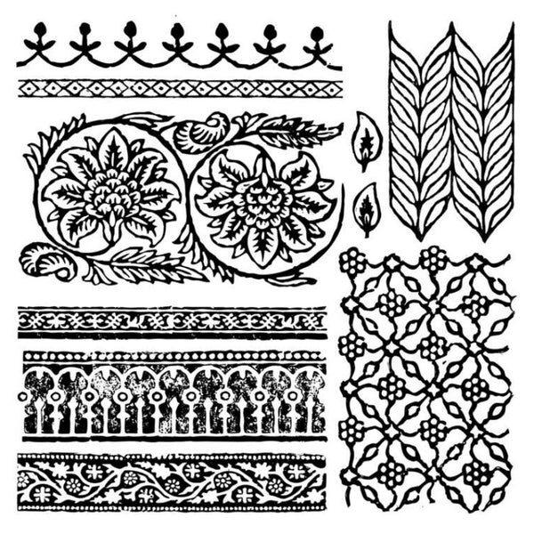 """Bohemia"" 12x12 Decor Stamp - Iron Orchid Designs"
