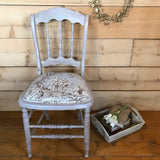 Vintage Chair with Annie Sloan Normandy Fabric -SOLD