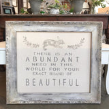 """Beautiful"" Framed Quote Workshop"