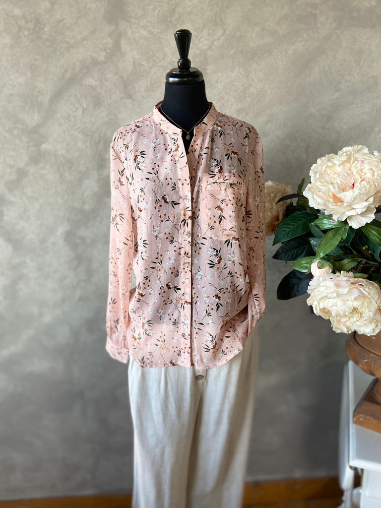 Garden Time Long-Sleeved Blouse