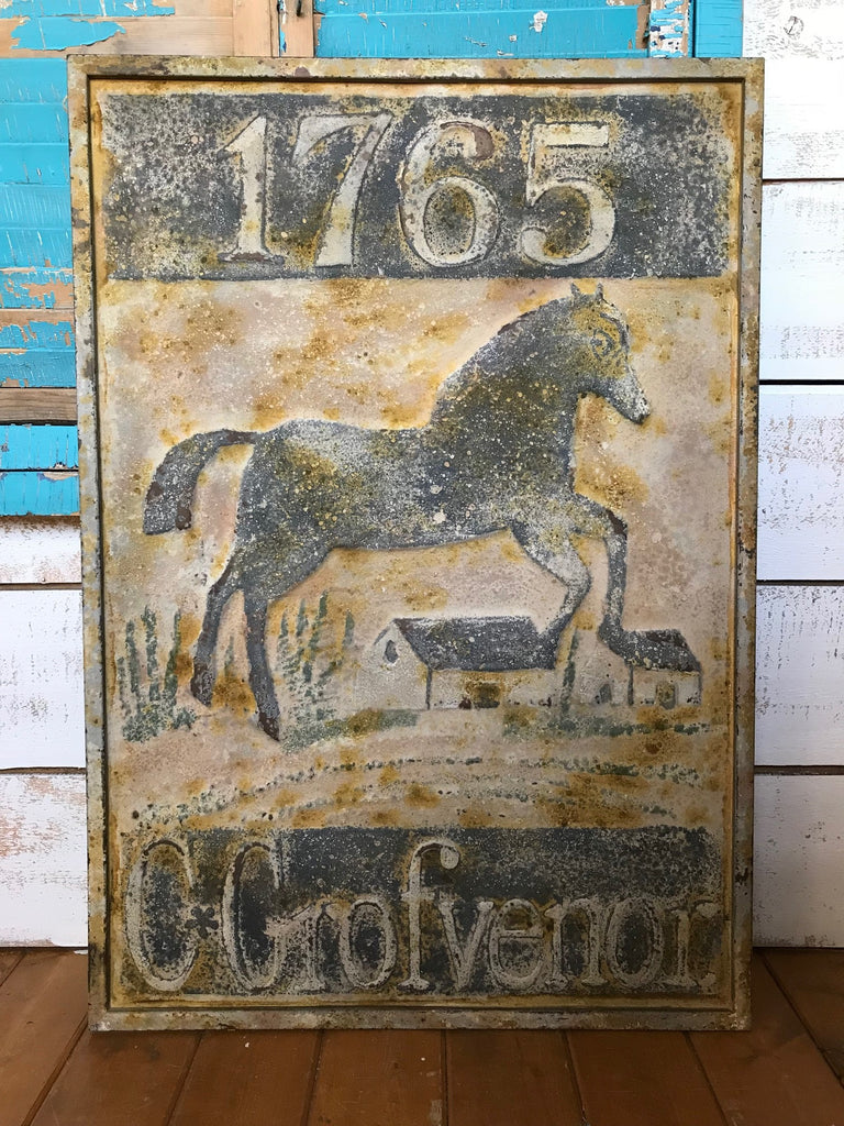 Rustic Horse Tin Sign