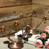 Gregorian Copper Candlestick Holder