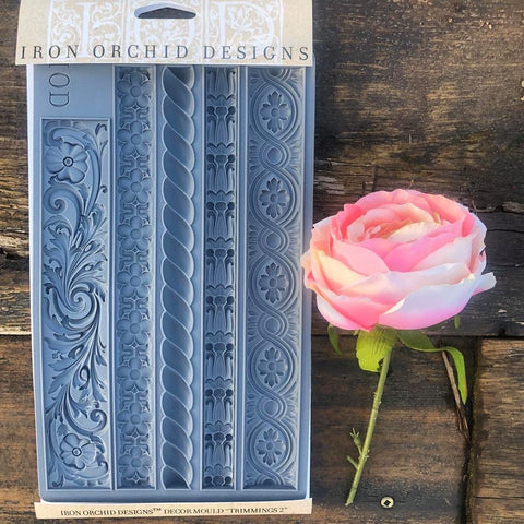 Trimmings 2 Decor Mould by IOD - Iron Orchid Designs