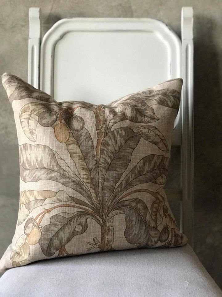 Linen Neutral Print Cushion - SOLD