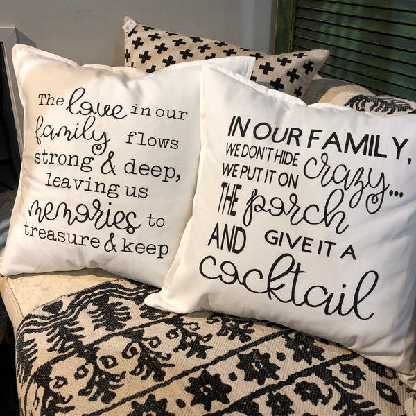 Sweet or Sassy Stencil Pillow Workshop