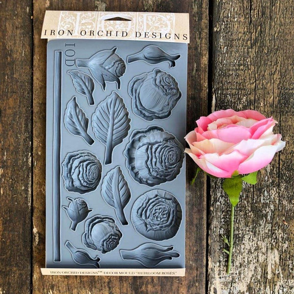 Heirloom Roses Decor Mould by IOD
