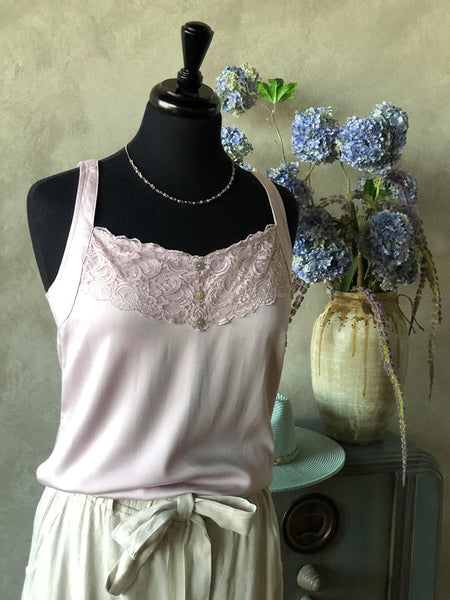 Tank Swing Mauve Lace