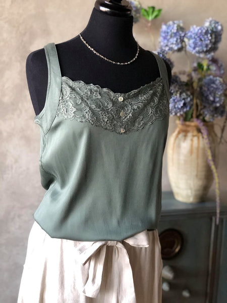 Tank Swing Green Lace