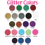 Helmet Glitter Decal Sticker with 1 Set of 15 Stars, Customized & Personalized