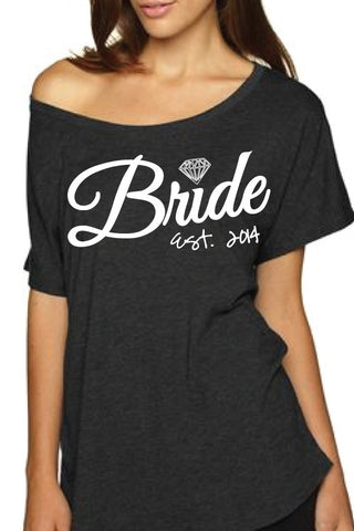 Bride OFF Shoulder, Bride T-shirt Wedding shirt Off shoulder T-shirt Bride night shirt wedding,