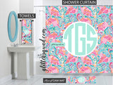 Peel and Eat Bathroom Decor Gift Set Personalized Shower Curtain/Towels/Memory Foam Mat