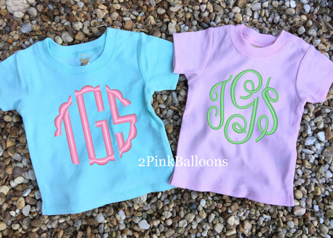 Monogram Infant Baby Snap Tee