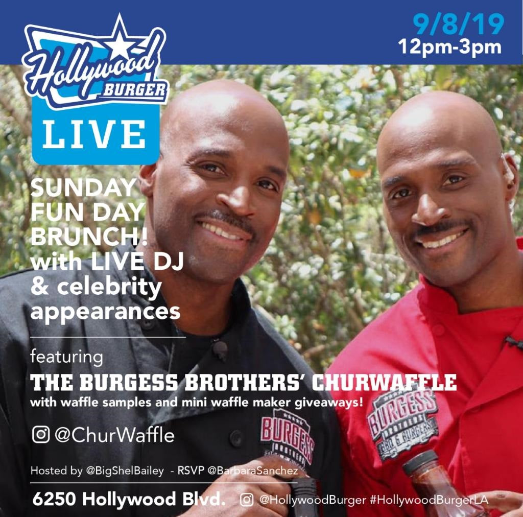 Burgess Brothers debut ChurWaffles in Hollywood California!