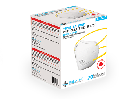 BREATHE MEDICAL N95 Flat Fold ( N*95 Equivalent) Bulk Pricing