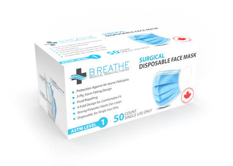 BREATHE MEDICAL LEVEL 1 SURGICAL _(Bulk Pricing)_SM-95-L1-BR