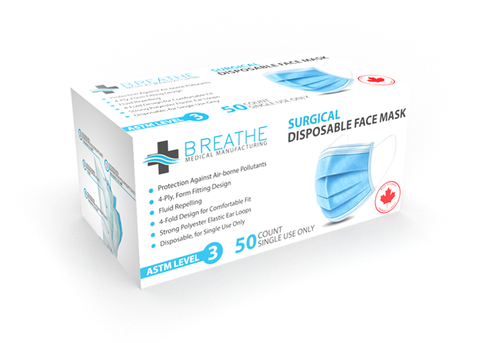 BREATHE MEDICAL LEVEL 3 SURGICAL _(Bulk Pricing)_SM-99-L3-BR