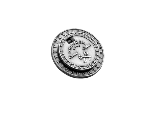 Classic Caesar Cipher Medallion Decoder Ring