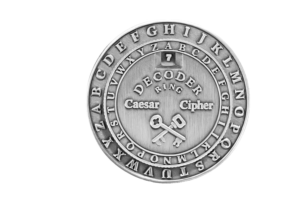 Classic Caesar Cipher Medallion Decoder Ring Retroworks