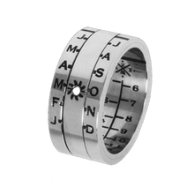 Aquitaine Sundial Ring Silver Finish