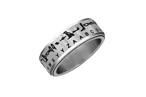Hieroglyph Translator - Spinner Ring