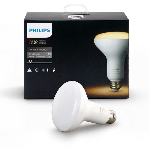 Philips Hue White Ambiance BR30 Single Flood Light Packaging