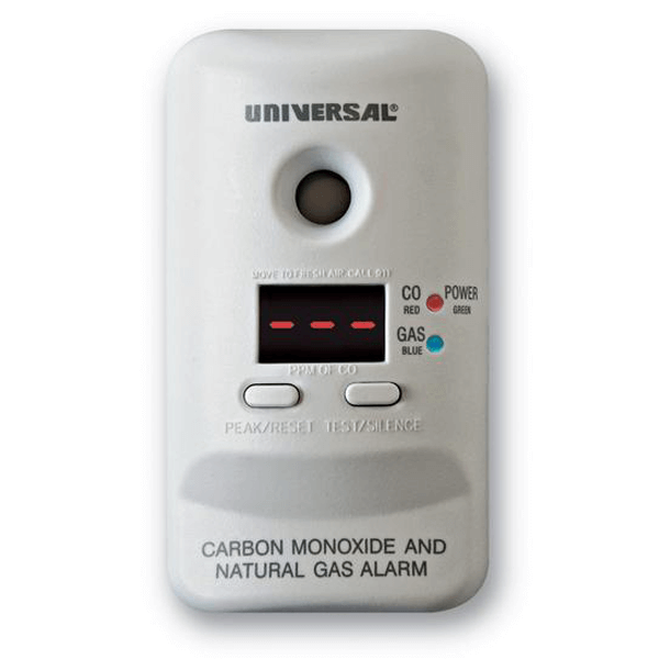 2-in-1 Carbon Monoxide and Natural Gas Smart Alarm (Plug-In)