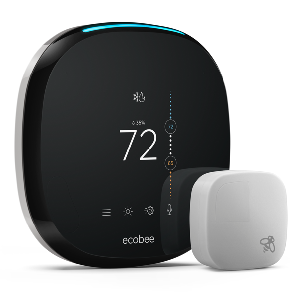 ecobee4 WiFi Thermostat w/ Built-in Alexa Voice Service image 23021974350