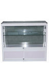 Display Cabinet Glass White 1000w 400d 900h