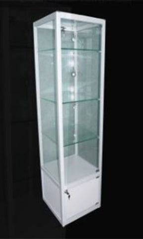 Display Cabinet Glass 400w 400d 1800h White