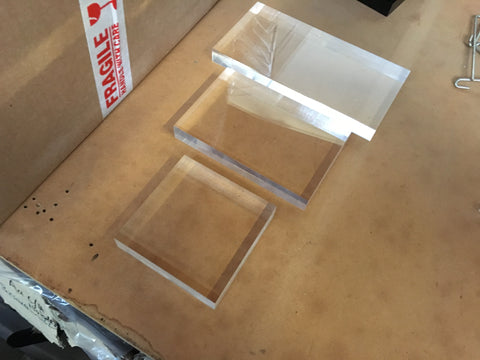 Acrylic Blocks / Riser (Set of 3) |Auckland | New Zealand | Maxim Displays