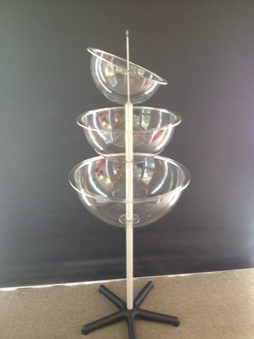 Triple Bowl Stand Perspex