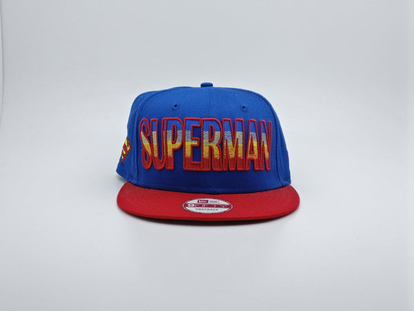 NEW ERA 9FIFTY SNAPBACK HERO FADE SUPERMAN BLUE RED