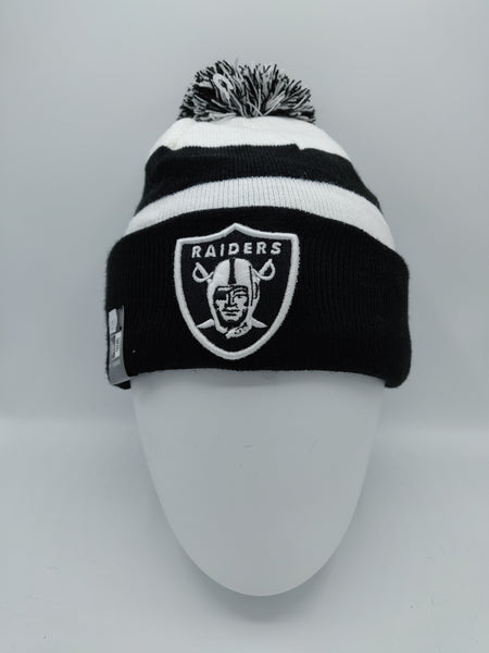 NEW ERA EMEA NFL SPORT KNIT RAIDERS BLACK/WHITE