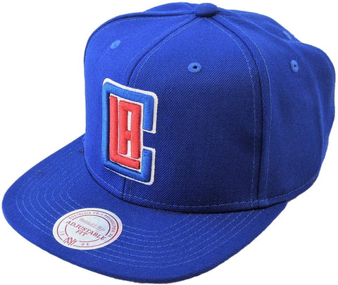 M&N Snapback Wool Solid LA CLIPPERS royal