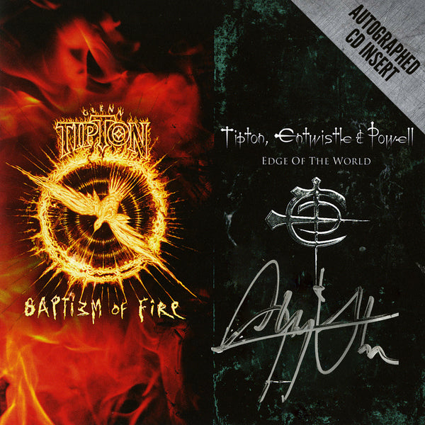 Glenn Tipton Baptizm Of Fire / Edge Of The World: Autographed Limited Edition 2 CD Set