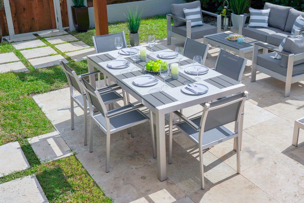 belvadare-14-piece-brushed-aluminum-combination-outdoor-furniture-set